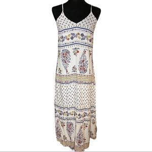 Old Navy XS Maxi Dress White Floral